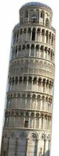 THE LEANING TOWER OF PISA HUGE CARDBOARD CUTOUT Italian landmark decoration prop