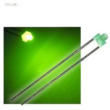 10 LEDs 1,8mm diffus vert dans l'ensemble avec Résistance de protection, LED