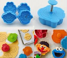 Sesame Street Cookie Fondant Clay Cutter Plunger Mold
