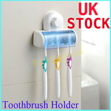 Home Bathroom Wall Mount Toothbrush SpinBrush Suction Cups Holder Stand 5 Racks
