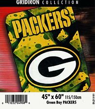 NFL Football Green Bay Packers Blanket 90% Acrylic Plush Mink Raschel throw new