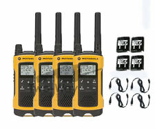 Motorola Talkabout T400 Walkie Talkie 4 Pack Set Two Way Radio NOAA LED