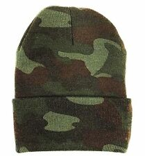 Deluxe Camouflage Watch Cap Cold Weather Woodland Camo Comfy Winter Ski Snow Hat