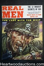 Real Men Dec 1960 Nazi Dominatrix illo the Lady with the whip - High Grade- NAPA