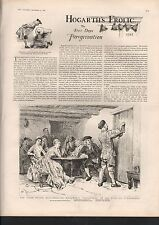 1887 HOGARTH'S FROLIC, FIVE DAYS PEREGRINATION, ARTICLE ON 4 SIDES
