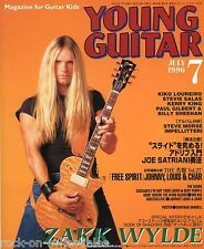 Young Guitar Magazine July 1996 Japan Zakk Wylde Slayer Angra Iron Maiden