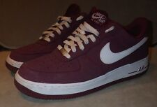 Cherrywood Maroon Red Mens NIKE AIR FORCE 1 Trainers Sneakers - UK Size 9