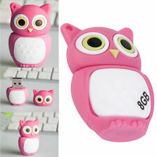 Gift Pen drive cartoon Pink Owl USB 2.0 Memory Flash Stick Storage 8GB U Disk LO