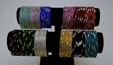 Indian Ethnic Bangles - Set of 144 pcs - Assorted Colors - $12.99/set