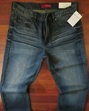 Guess Straight Leg Jeans Men Size 34 X 30 Vintage Distressed Wash - NEW