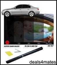 Film teinte fenêtre de voiture teinter super Noir foncé 5% limo 76 cm x 6m