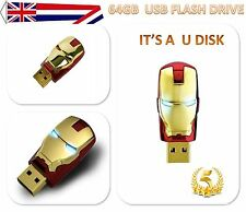 Marvel Avengers 64Gb USB 2.0 Memory Stick Iron Man Flash Pen Drive Toys Gift