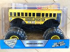 HOT WHEELS MONSTER JAM HIGHER EDUCATION TRUCK Large Scale 1:24 SCHOOL BUS