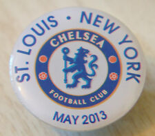 CHELSEA RARE 2013 USA TOUR BADGE ST LOUIS & NEW YORK Stud fitting 25mm x 25mm