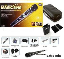 NEW MAGIC SING ET25K SPANISH VERSION karaoke w/Bag Binder & FREE WIRED DUET MIC