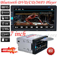 "7"" TFT 2Din Bluetooth Touch Screen Car CD/DVD/SD/USB AUX FM Radio MP3 MP5 Player"