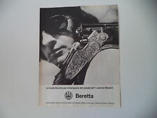 advertising Pubblicità 1970 FUCILE BERETTA e JACKIE STEWART