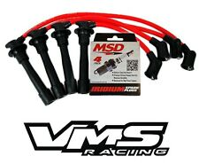VMS RACING RED IGNITION WIRES + MSD SPARK PLUGS FOR 99-00 HONDA CIVIC SI B16A3