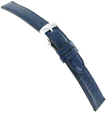 14mm Zuccolo Rochet Genuine Sports Leather Blue Aero Padded Ladies Watch Band