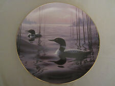 WITCHING HOUR - LOONS collector plate PHIL SCHOLER Wildlife LOON