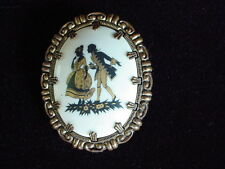 Vintage Western West Germany Silhouette Cameo Brooch Pin