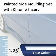 "Painted w/Chrome Insert 1.25"" Body Side Moulding Set for Lincoln MKZ Sedan"