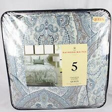 NEW Raymond Waites Atomic 5 Piece Comforter QUEEN Set Blue Y228