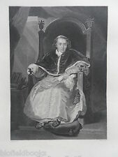 Original Antiquarian Engraving;  Pius VII, Roman Pontiff - c1850 - Catholic Pope
