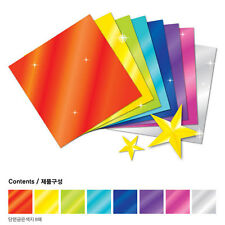 "40 Sheets Metallic Colored Paper Twinkle Gold Silver 8 Colors 15cm (5.9"")"