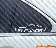2x FORD Shelby GT500 E ELEANOR Mustang   YOUR TEXT , muscle car stickers decal