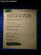 Sony Bedienungsanleitung SEQ V705 Graphic Equalizer (#0230)