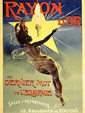 Publicité GAZ Luminaire rayonne d'or France Fée Art Poster Print lv902