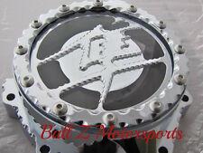 99-16 Hayabusa Chrome Ball Cut Edges Metal Logo Clear See Through Stator Cover!