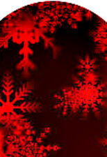 20 water slide nail transfer decals full nail red snowflakes trending 4 sizes