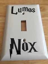 Lumos Nox Light Switch Harry Potter Inspired Vinyl Decal Sticker Hogwarts Snape