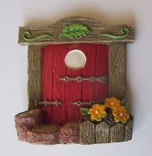 p FAIRY TREE DOOR Red Figurine miniature Garden Fantasy collection Ganz