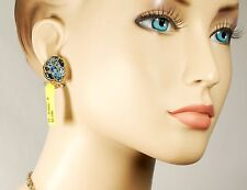 $2,295 LAGOS Ombré Ombre Silver 18k Blue Topaz Post Clip Earrings Women NWT