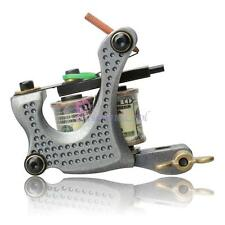 New Pro Shader Tattoo Machine Gun 10 Wrap Coils for Body Art Gray Color