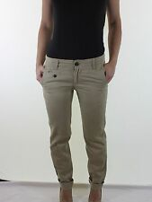 TOMMY HILFIGER stone beige twill straight leg chinos trousers size 8 W 26 L 32