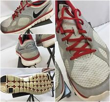 Nike Free Run Size 10 Men Gray Red Running Shoes GUC YGI L6-51