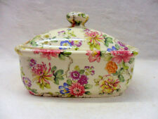 imari butterdish by Heron Cross Pottery