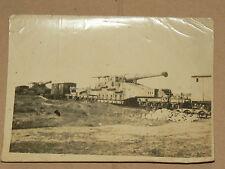 Photo Ancienne Train Blindé Canon Guerre 39/45   Allemand ?