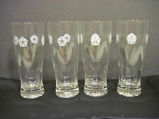 OLD VINTAGE SET OF 4 TALL WATER DRINKING CLEAR GLASS DODGE GLASSES THE GOOD GUYS