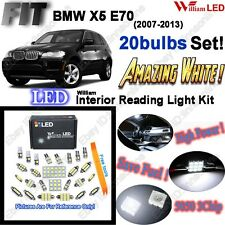 20 Bulbs Xenon White LED Bright SMD Interior Light Kit For BMW X5 E70 Error Free