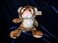 "GANZ HEART TUGGERS STUFFED PLUSH TIGER BEANS BIG SAD EYES 7"" 9"" H10801 NEW NWT"