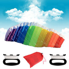 1.4m Beginner Sport Power Dual Line Stunt Parafoil Parachute Rainbow Beach Kite