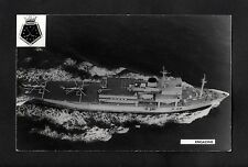 C1970s Photo card - Royal Fleet Auxillary Engadine Helicopter Support Ship