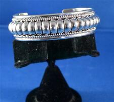 NATIVE AMERICAN NAVAJO INDIAN JEWELRY SILVER COIL BRACELET THOMAS CHARLIE