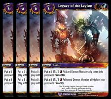 4x Legacy of the Legion War Ancients Epic 74 World Warcraft WoW TCG Card Game
