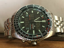 AUTHENTIC Nice Modern Gents CITIZEN PROMASTER CHRONO C460 DIGI/ANA PILOT Watch